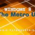 The New Windows 8 Metro UI