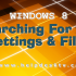 Searching For Windows 8 App Settings And Files