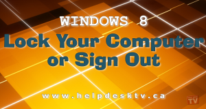 Lock Your Windows 8 Computer Or Sign Out